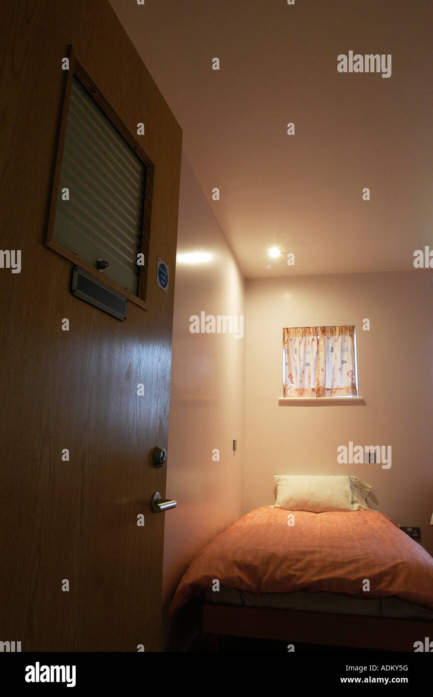 One Of The Bedrooms Or Cells In A Medium Secure Mental Hospital In North West London March 2004 Stock Photo Alamy