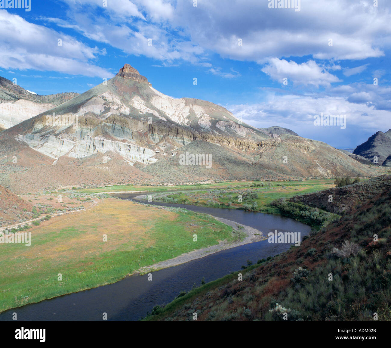 River in the John Day Fossil Beds - Stock Image