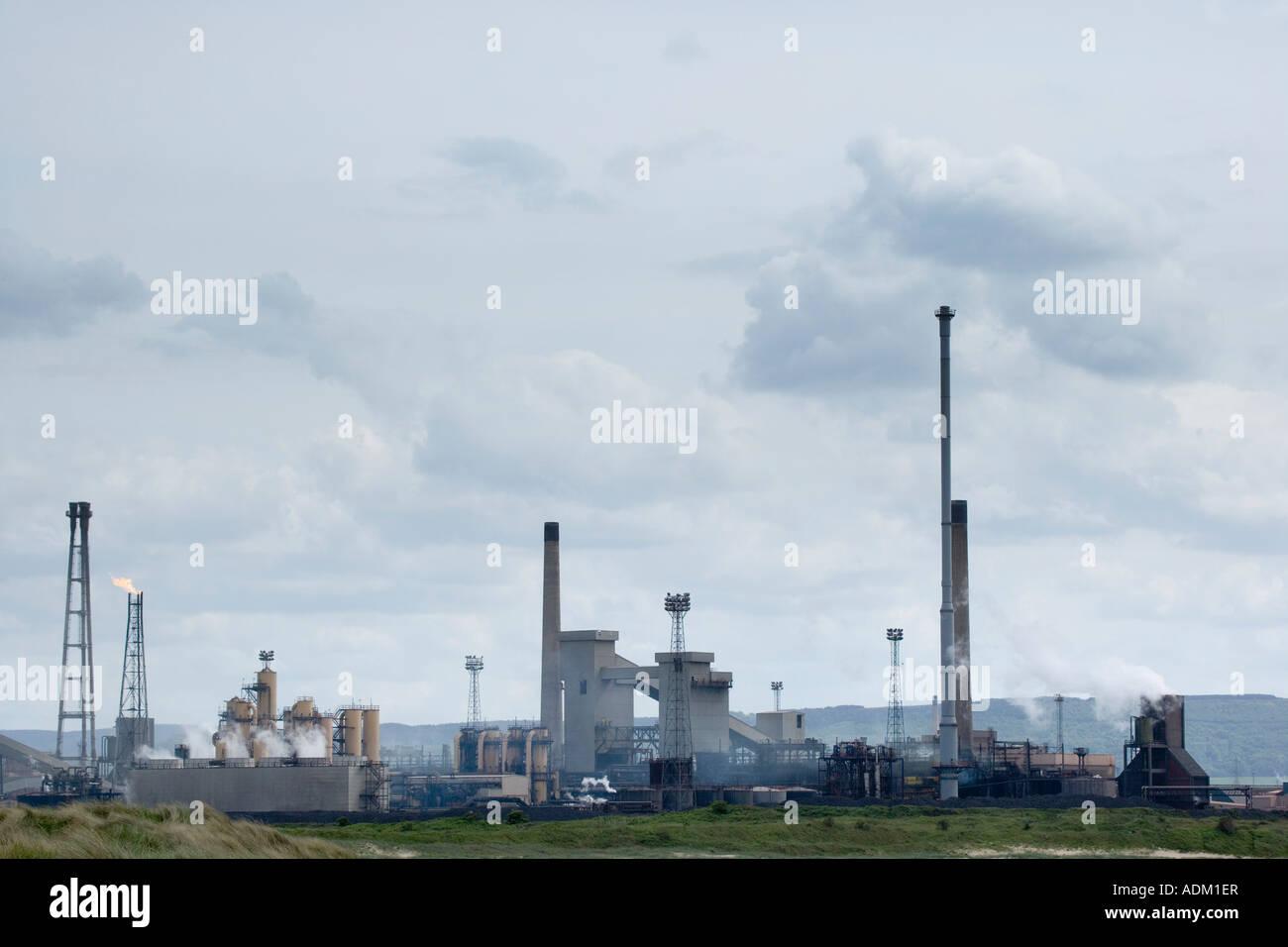 Redcar Steelworks Teesside Cleveland England UK - Stock Image