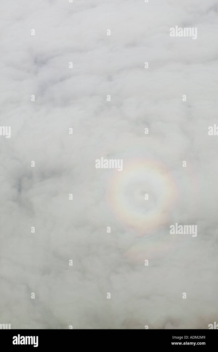 aerial view above glory ring - Stock Image