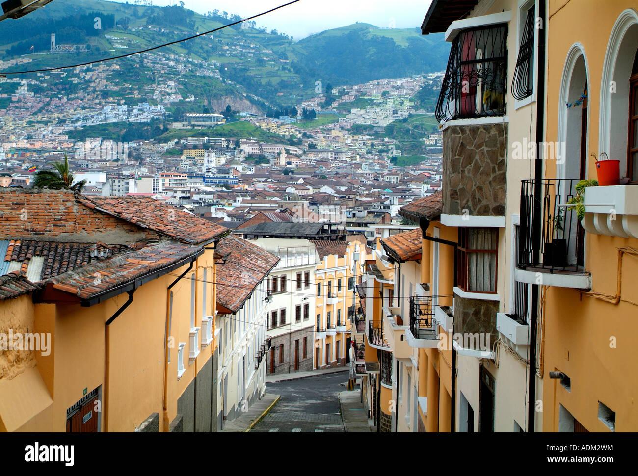 Colonial Architecture Quito Stock Photo 13448143 Alamy