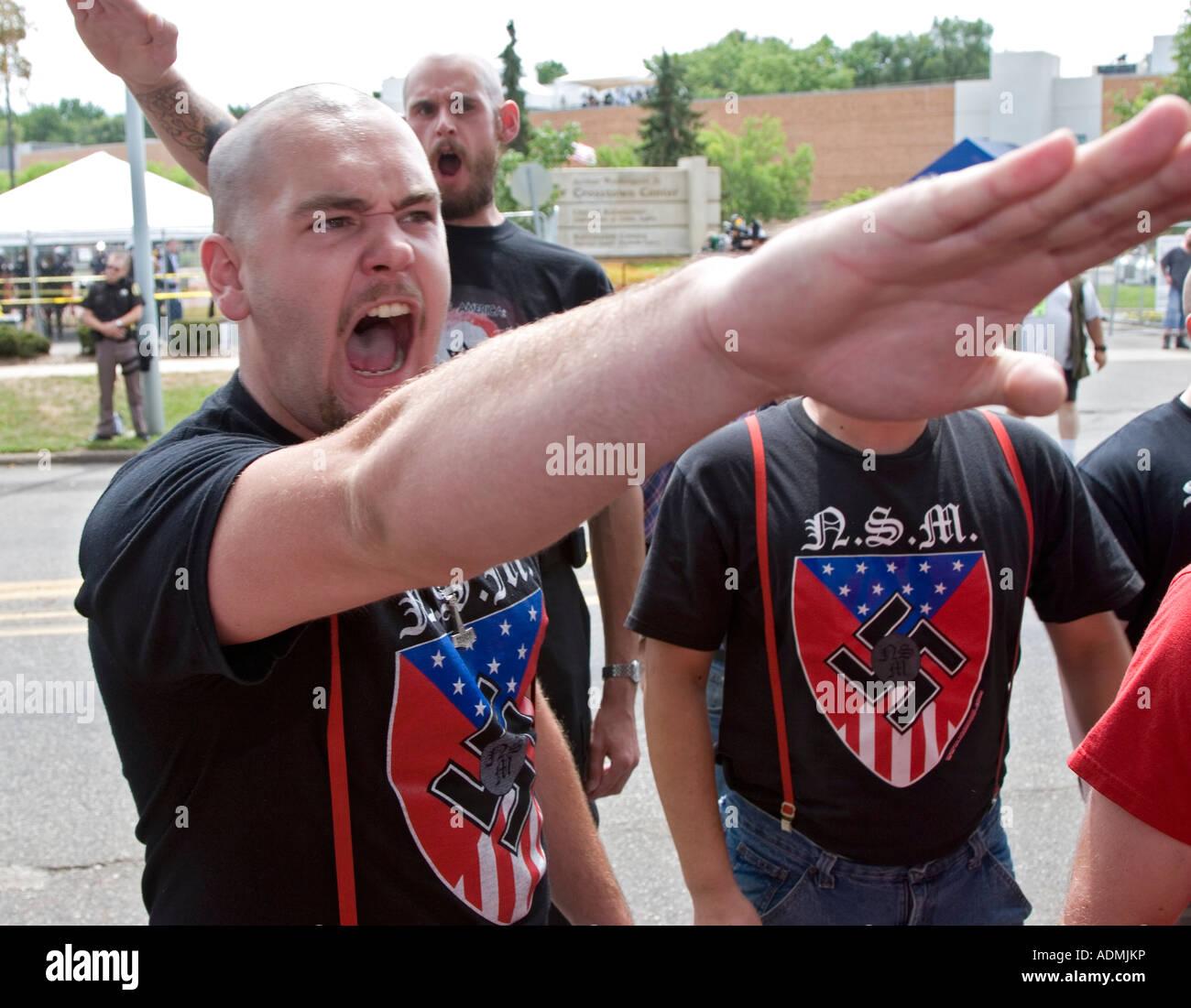 Neo-Nazi Rally - Stock Image