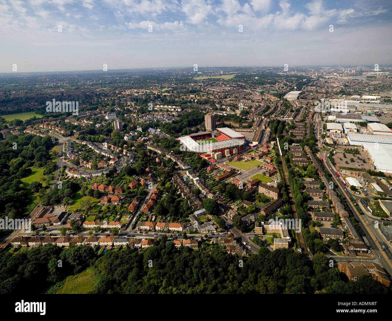 Aerial of Charlton Athletic Football Club, London - Stock Image