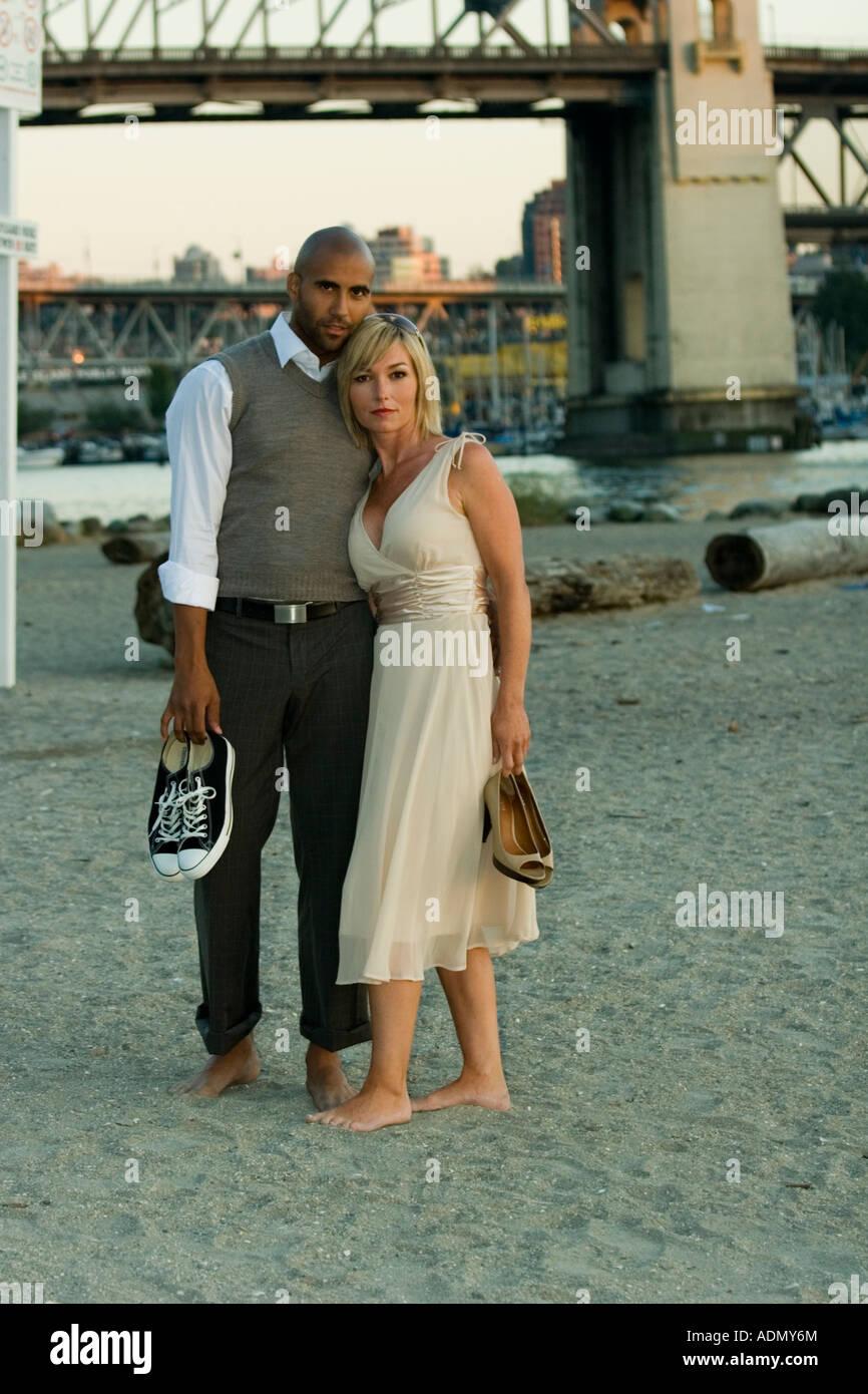 a black man and a white woman