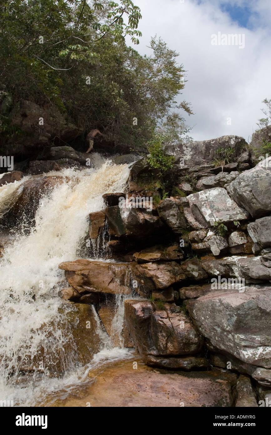 Waterfall in Chapada Diamantina - Stock Image