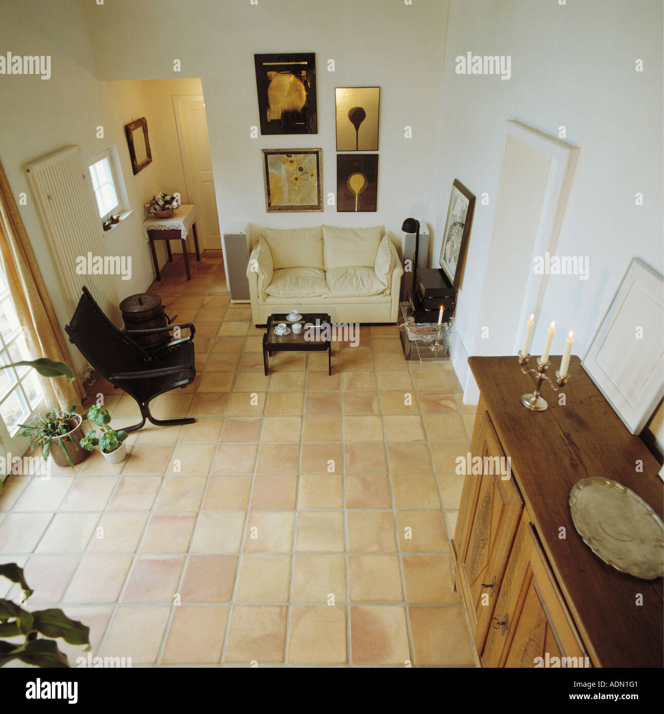 Aerial View Of Livingroom Stock Photo 7689664 Alamy