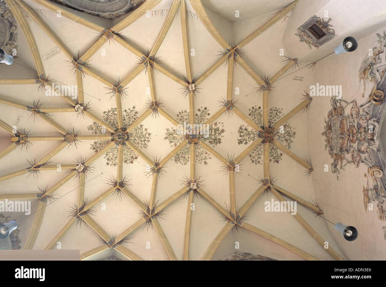 Weilheim an der Teck, Peterskirche, Gewölbe im Chor - Stock Image