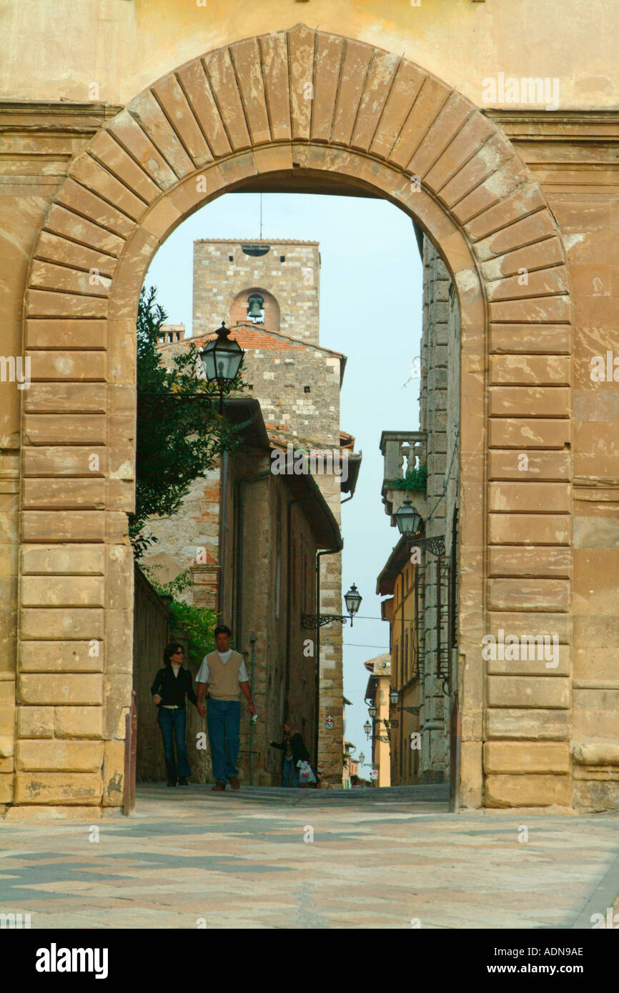 The Palazzo Campana Colle di Val d Elsa Tuscany Italy - Stock Image