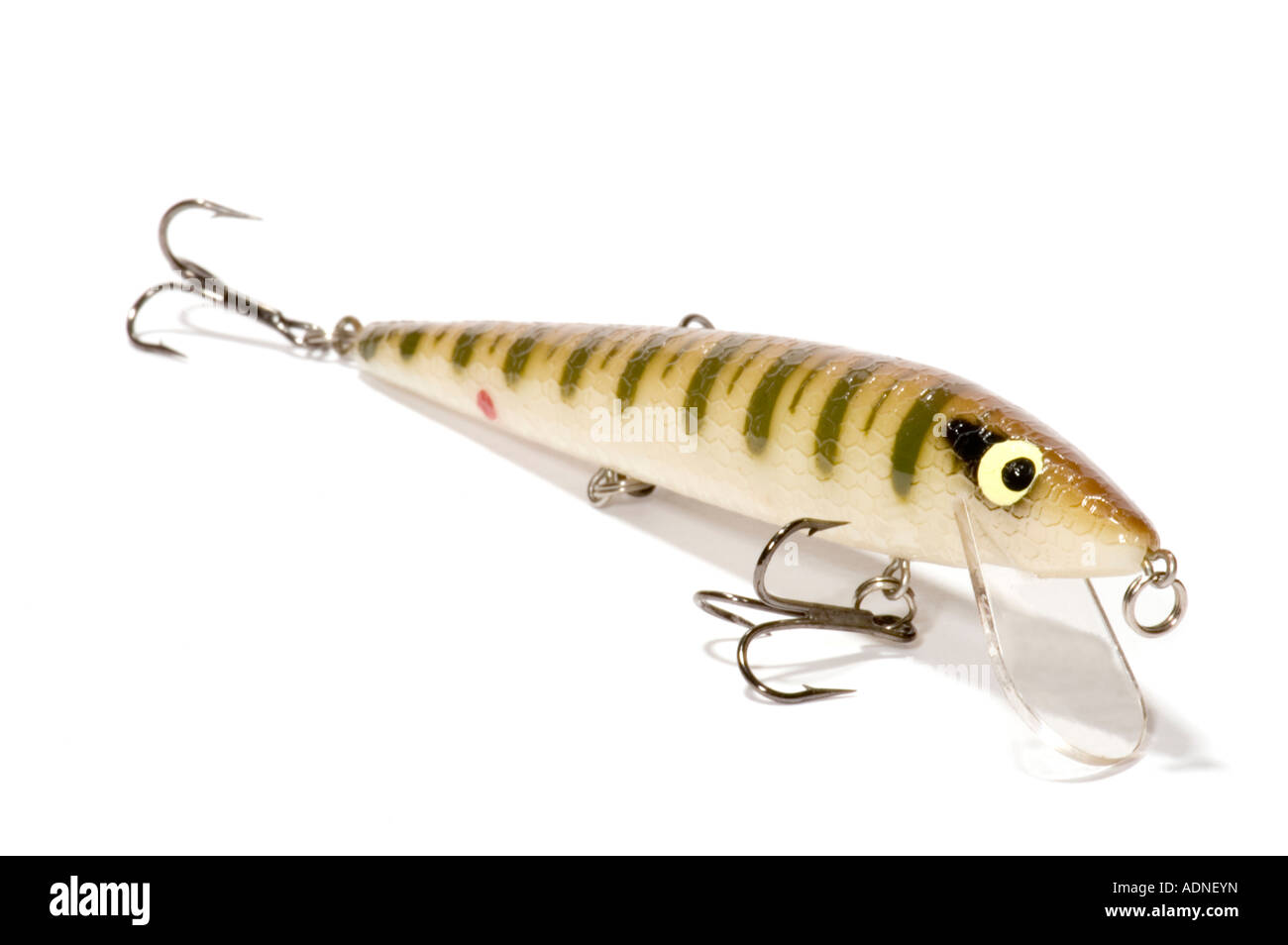 series object on white isolated spoon bait - Stock Image