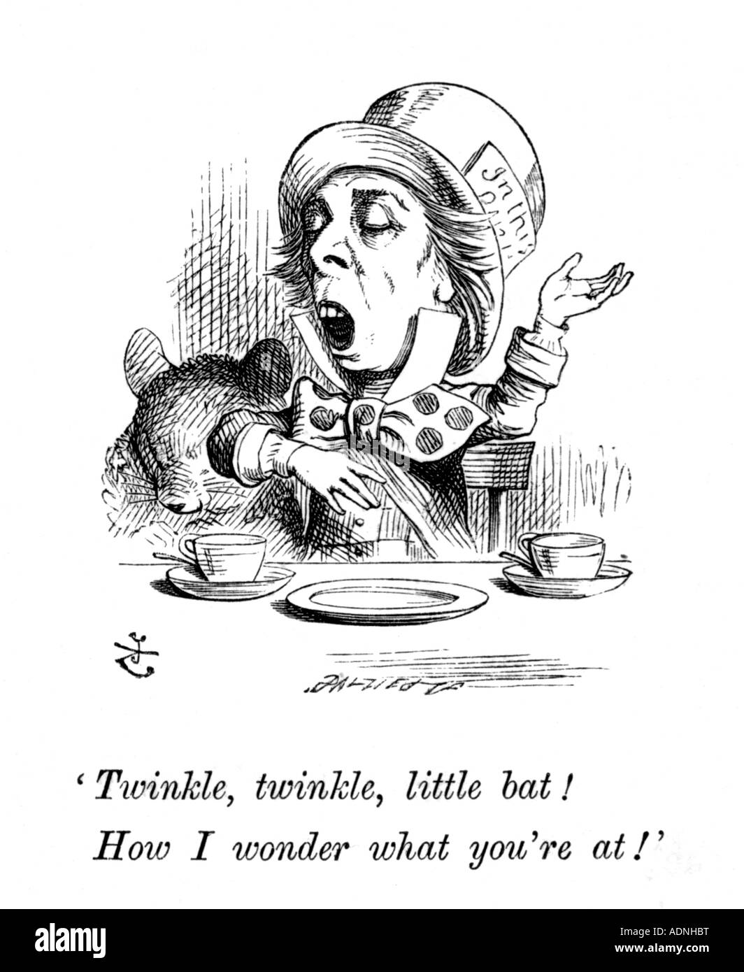 Illustrations to Lewis Carroll s Alice in Wonderland by John Tenniel - Stock Image