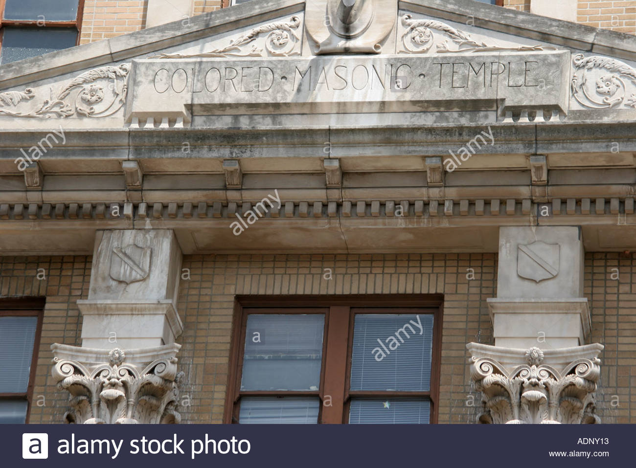 Birmingham Alabama Colored Masonic Temple Black History racial segregation - Stock Image