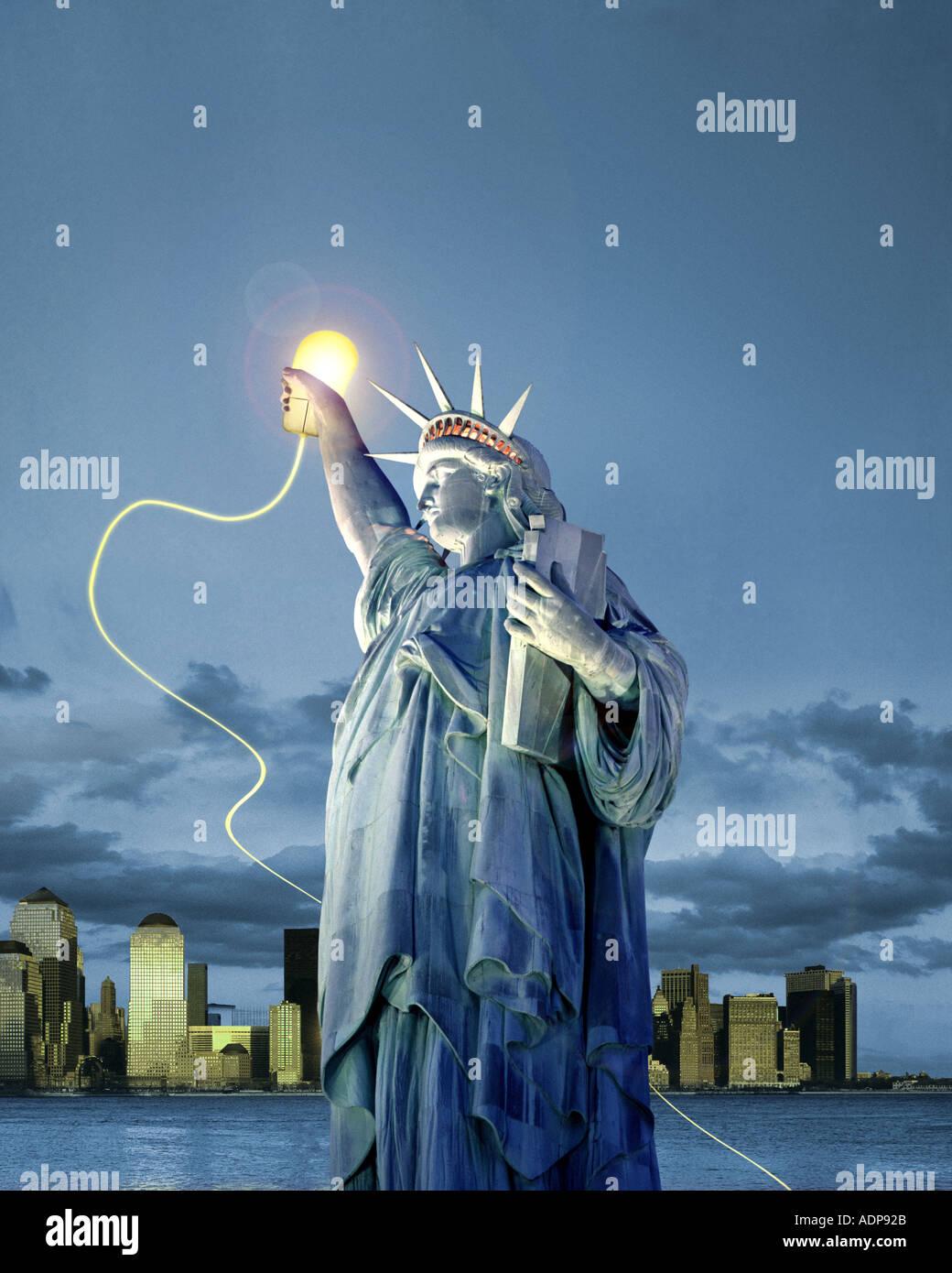USA - NEW YORK: Liberty Online - Stock Image