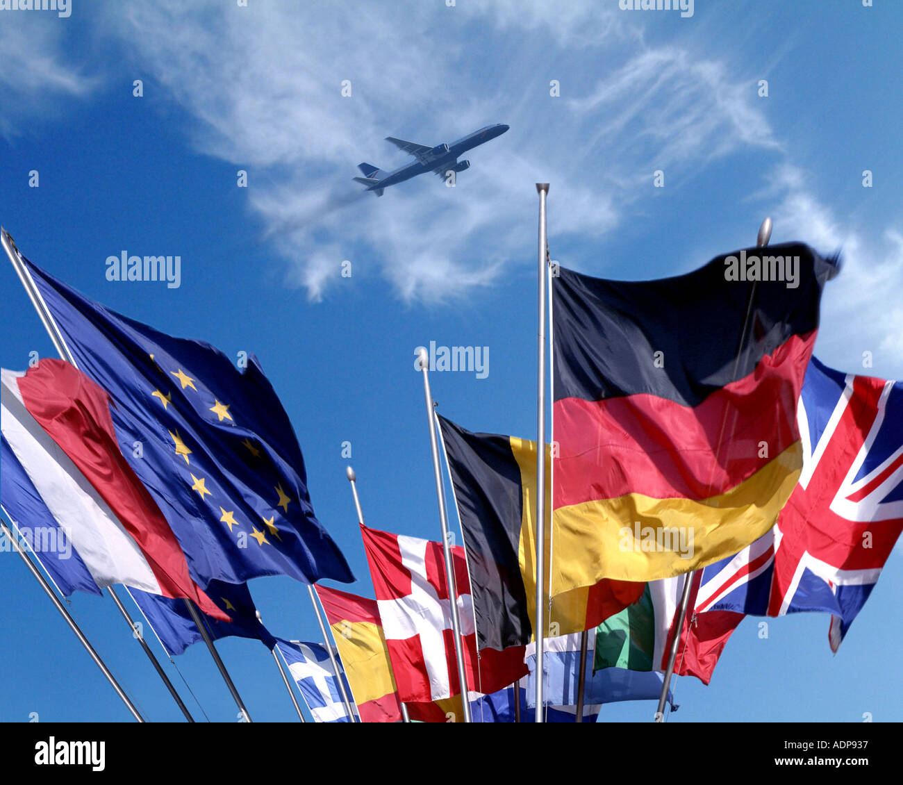 CONCEPT: The Flags of Europe - Stock Image