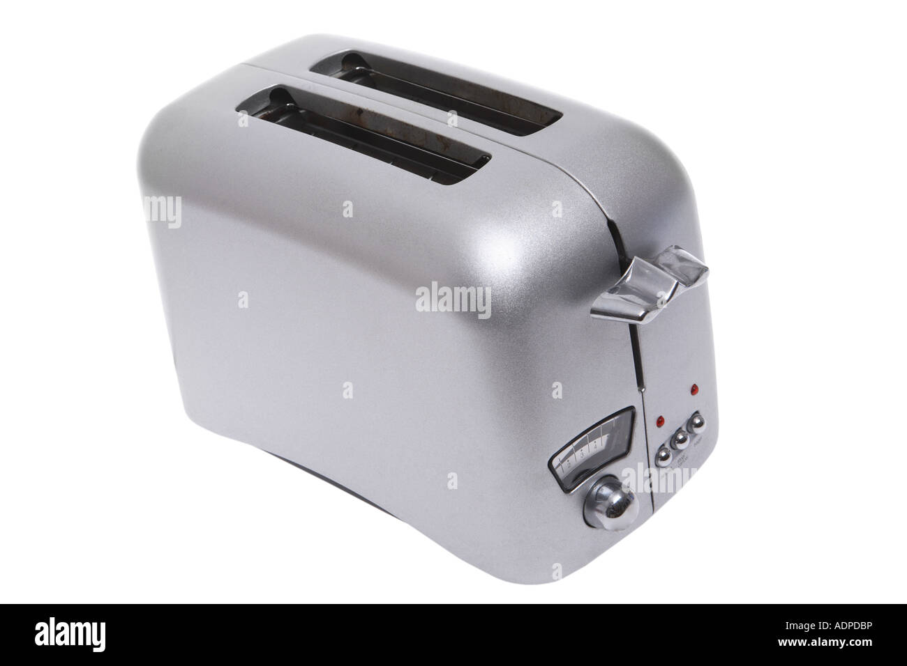 Toaster cut out on white background - Stock Image