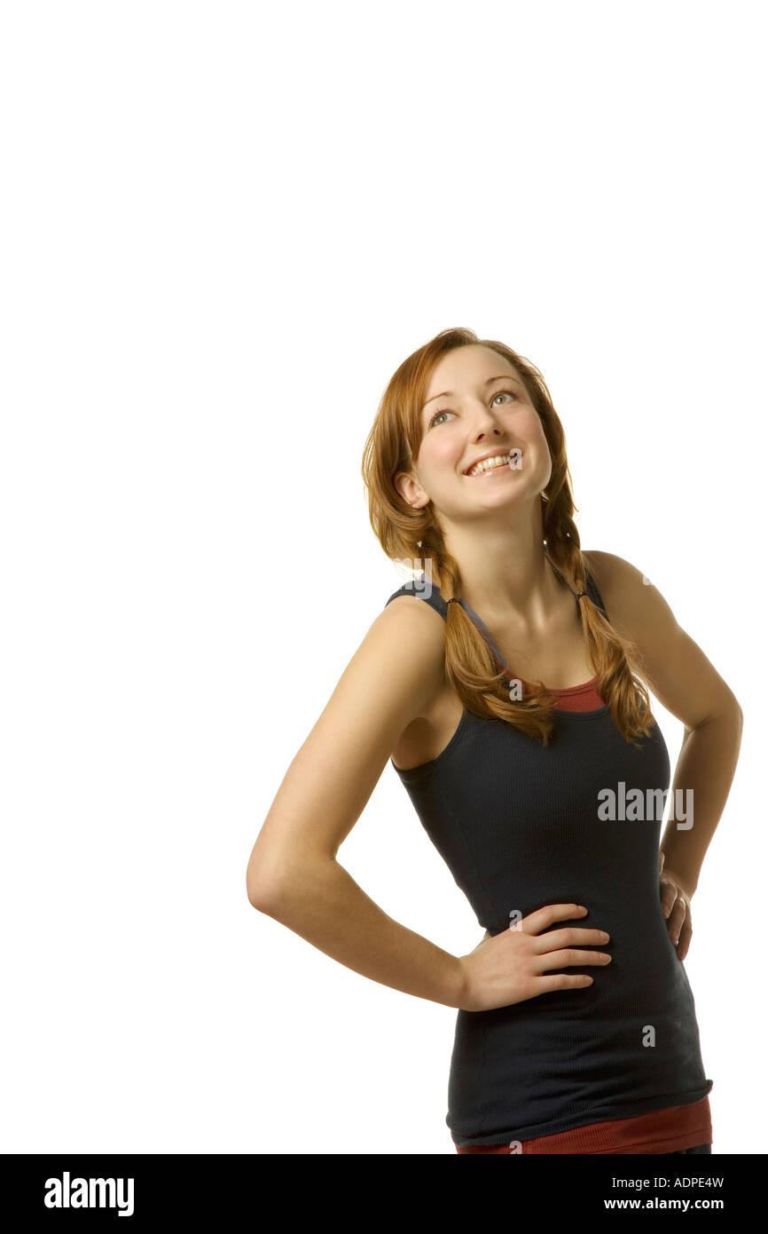 Woman smiling - Stock Image