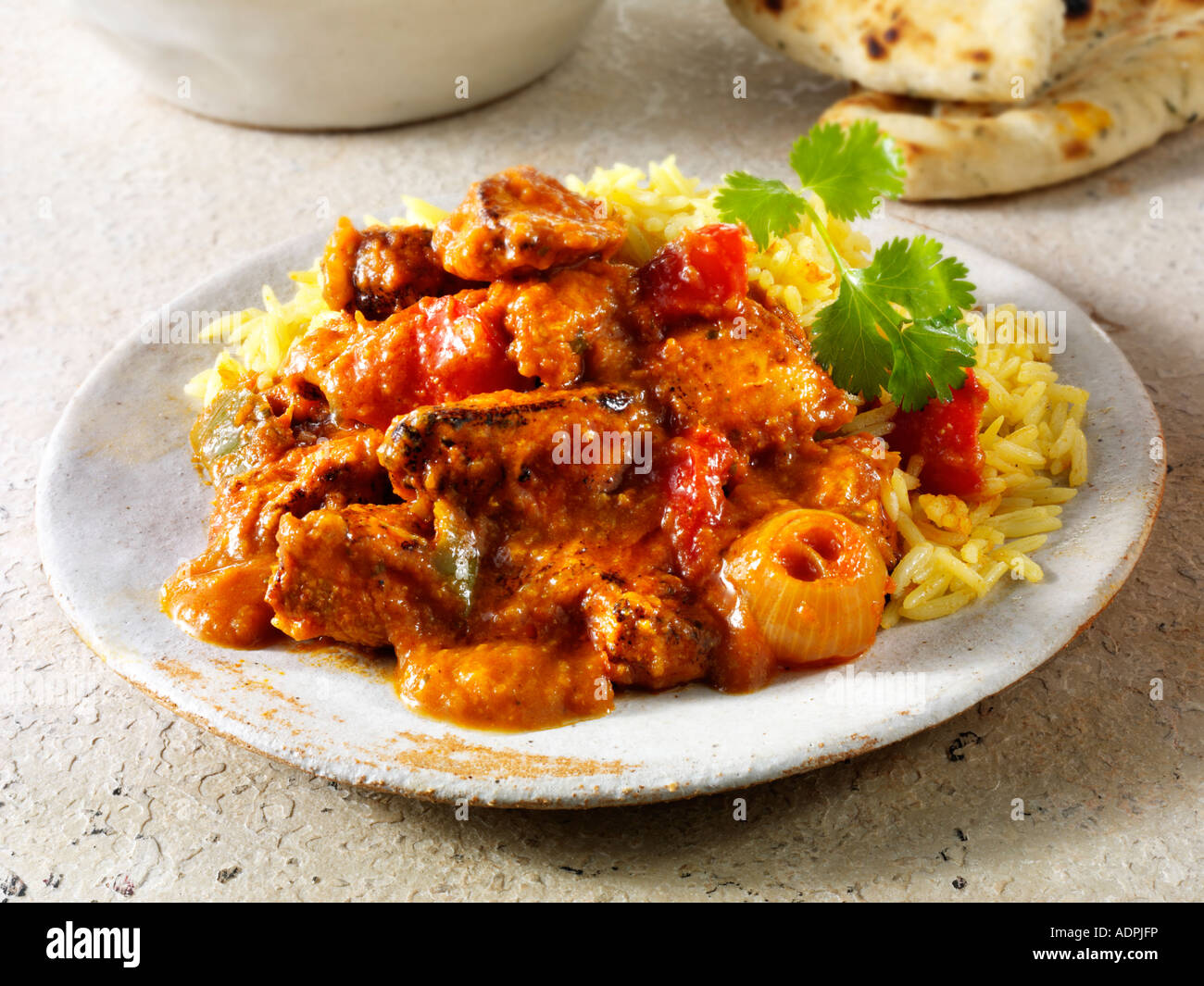 Indian meal chicken jalfrezi with pilau rice stock photo 13472217 indian meal chicken jalfrezi with pilau rice forumfinder Choice Image
