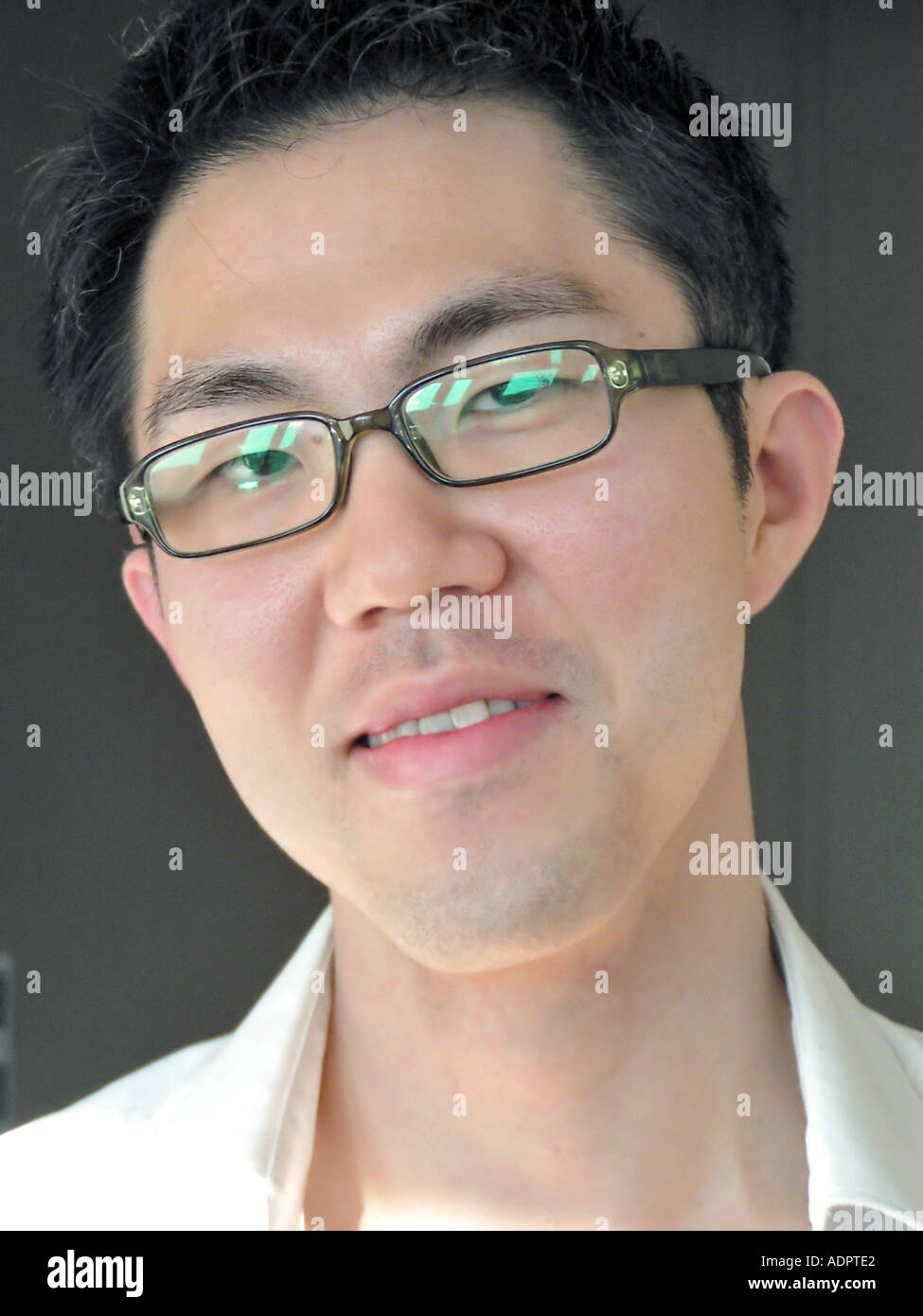 e4ab1df43f Portrait Young Asian Man With Glasses