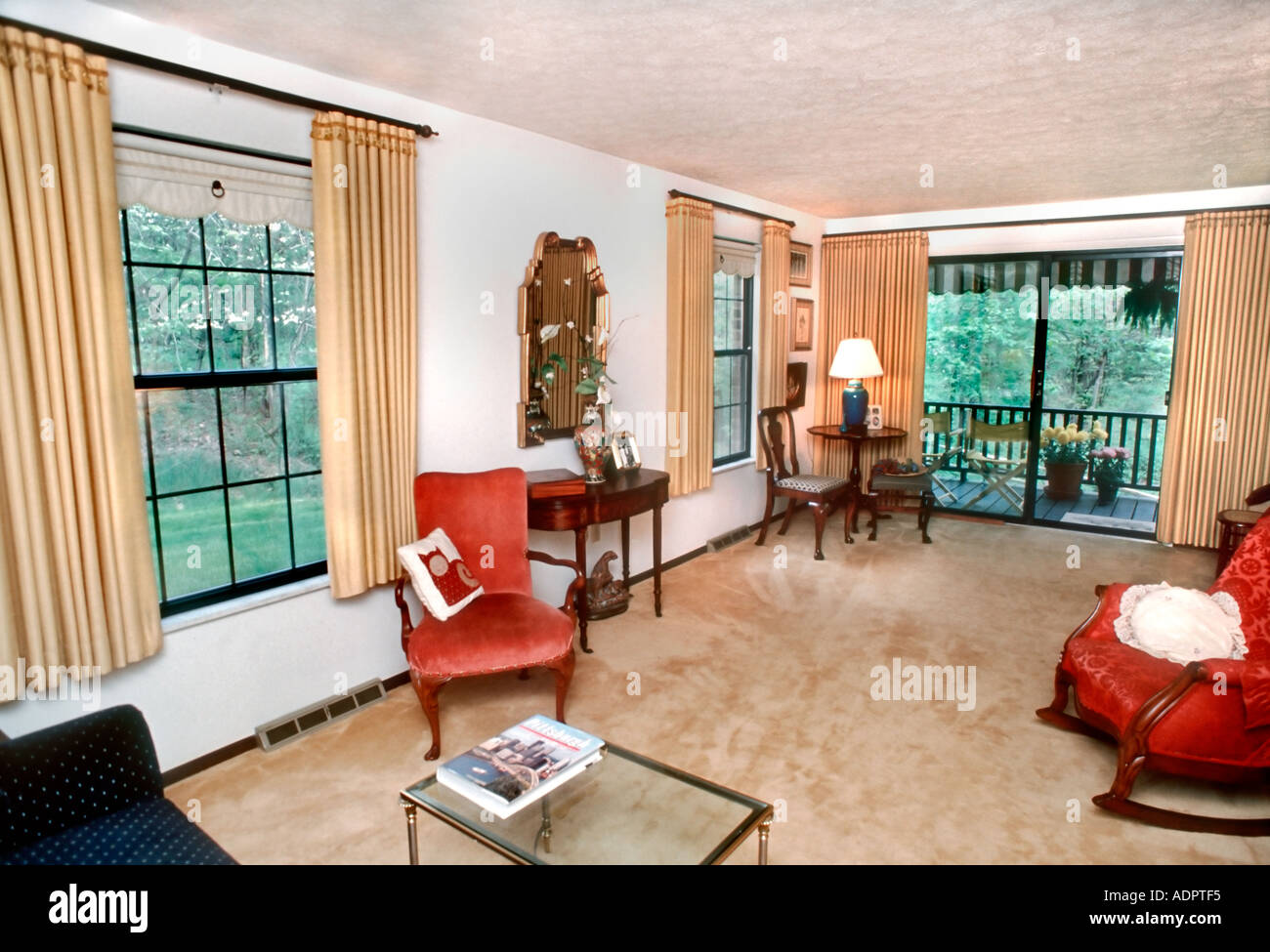 Usa Showcase Modern Home Interiors Flat Condominium Living Room Stock Photo Alamy