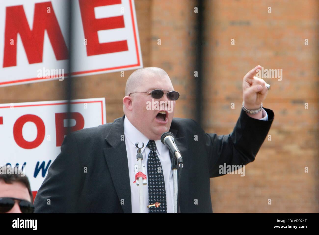 Neo-Nazi Leader Randy Gray Stock Photo