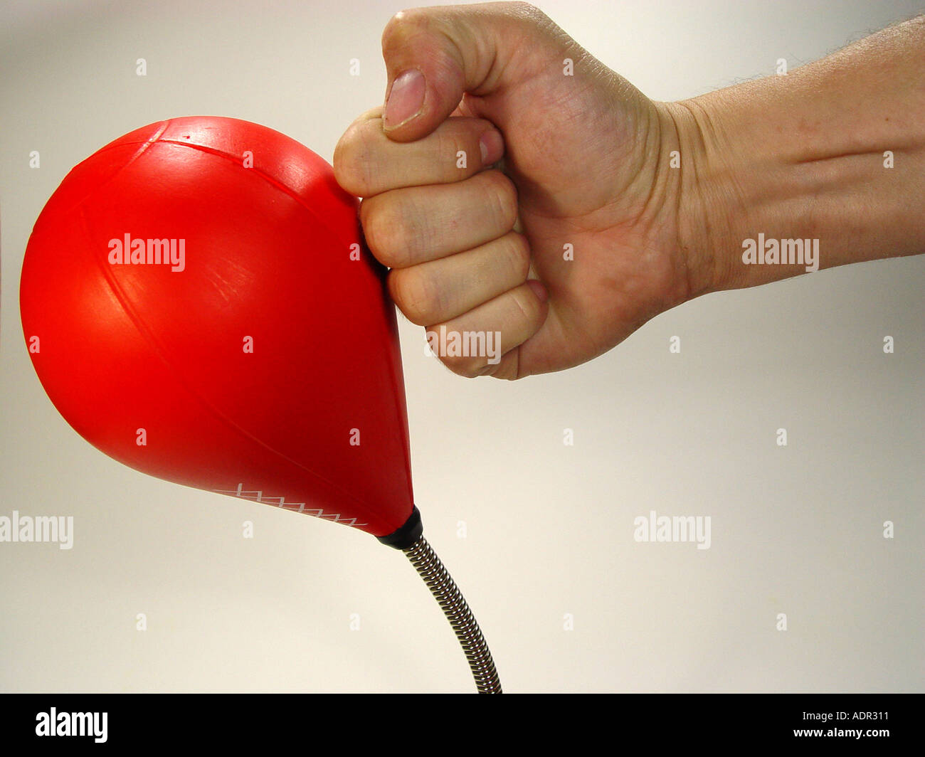 Punching ball as symbol for aggression dismantling force Mobbing etc Stock Photo