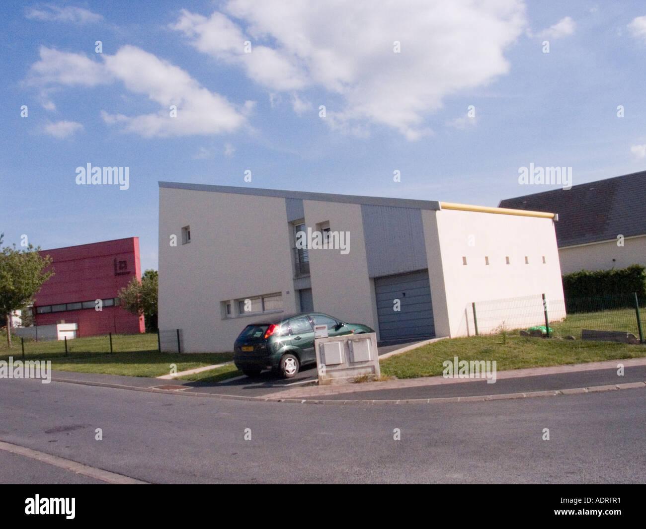 Alamy & Unusual modern house Reims France architect designed Stock Photo ...