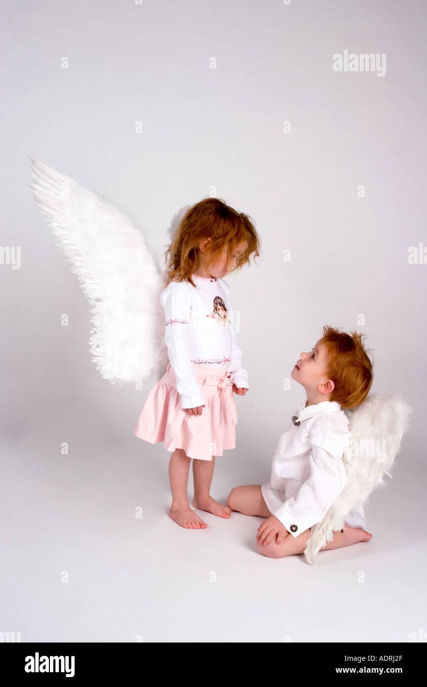 MR angels at christmas christmastime - Stock Image