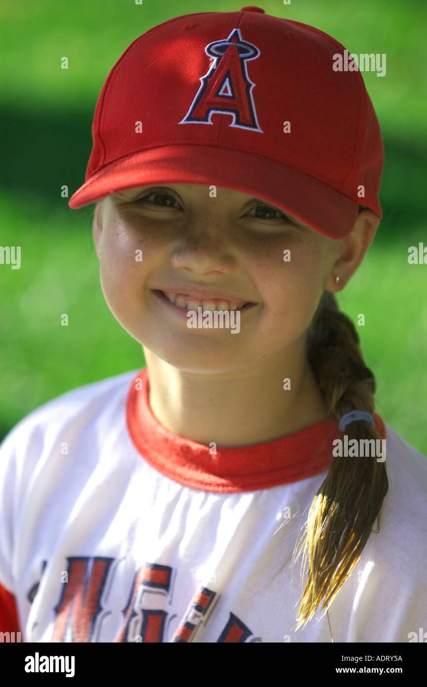 young girl wearing baseball cap Stock Photo  4403033 - Alamy e12d6060597
