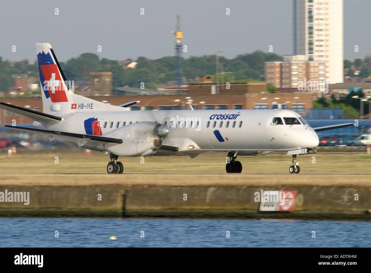 Swiss International Air Lines Saab 2000 - Stock Image