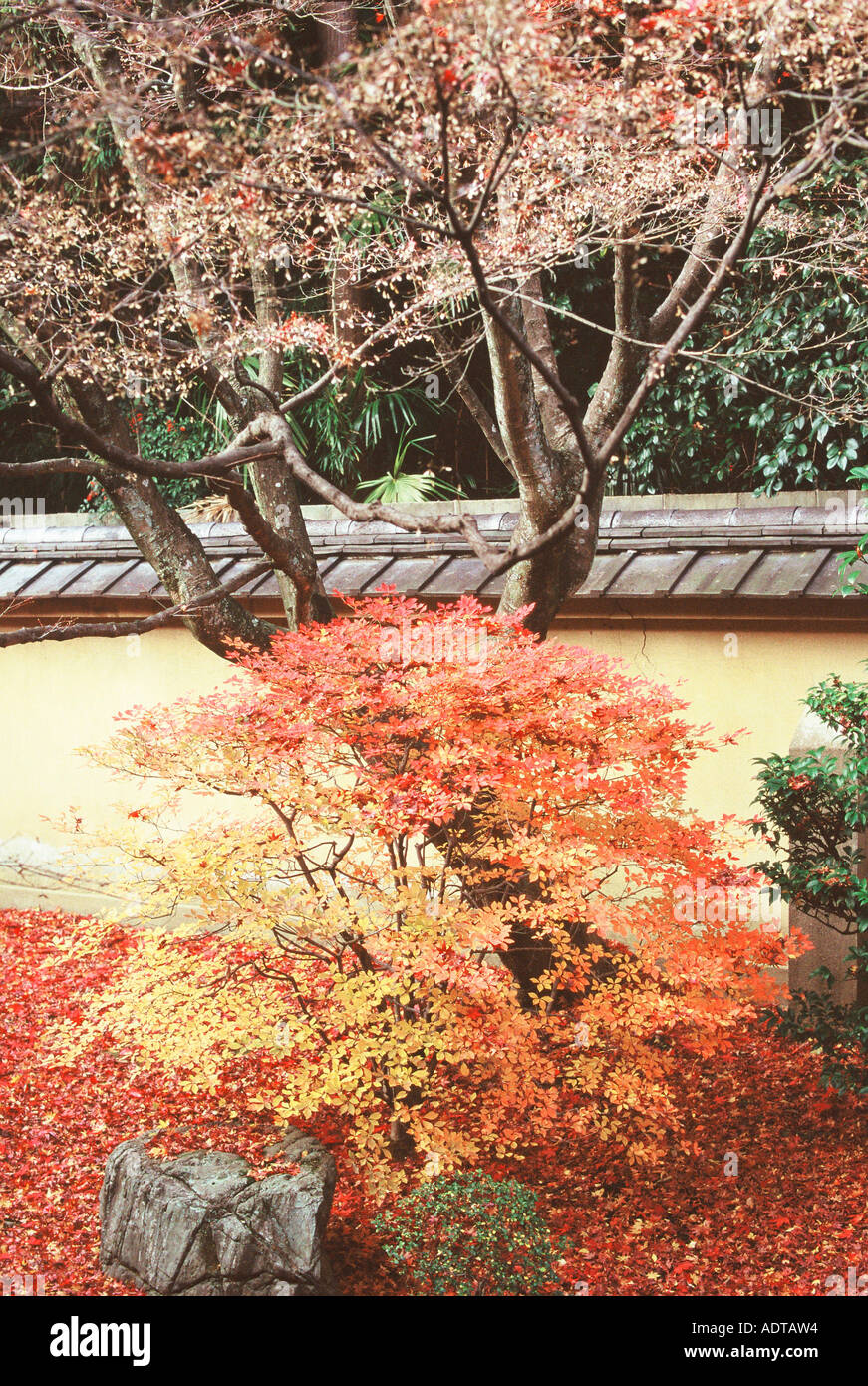Koto-in Garden in the Daitoku-ji Temple Complex Kyoto Japan - Stock Image