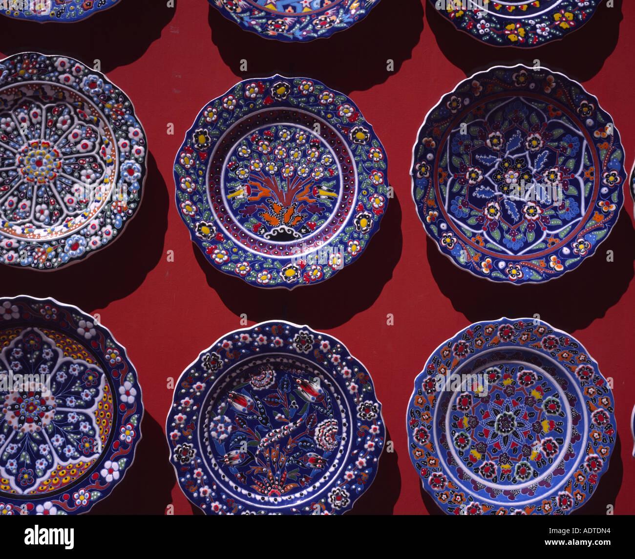Decorative Plates Bursa Turkey Stock Photo Alamy