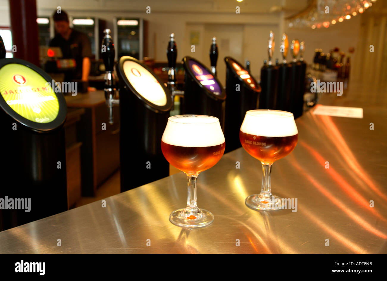 Denmark Copenhagen Carlsberg brewery beer bar - Stock Image