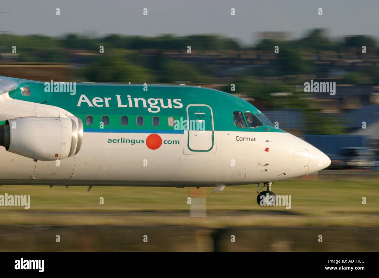 Aer Lingus British Aerospace BAe-146-300 - Stock Image