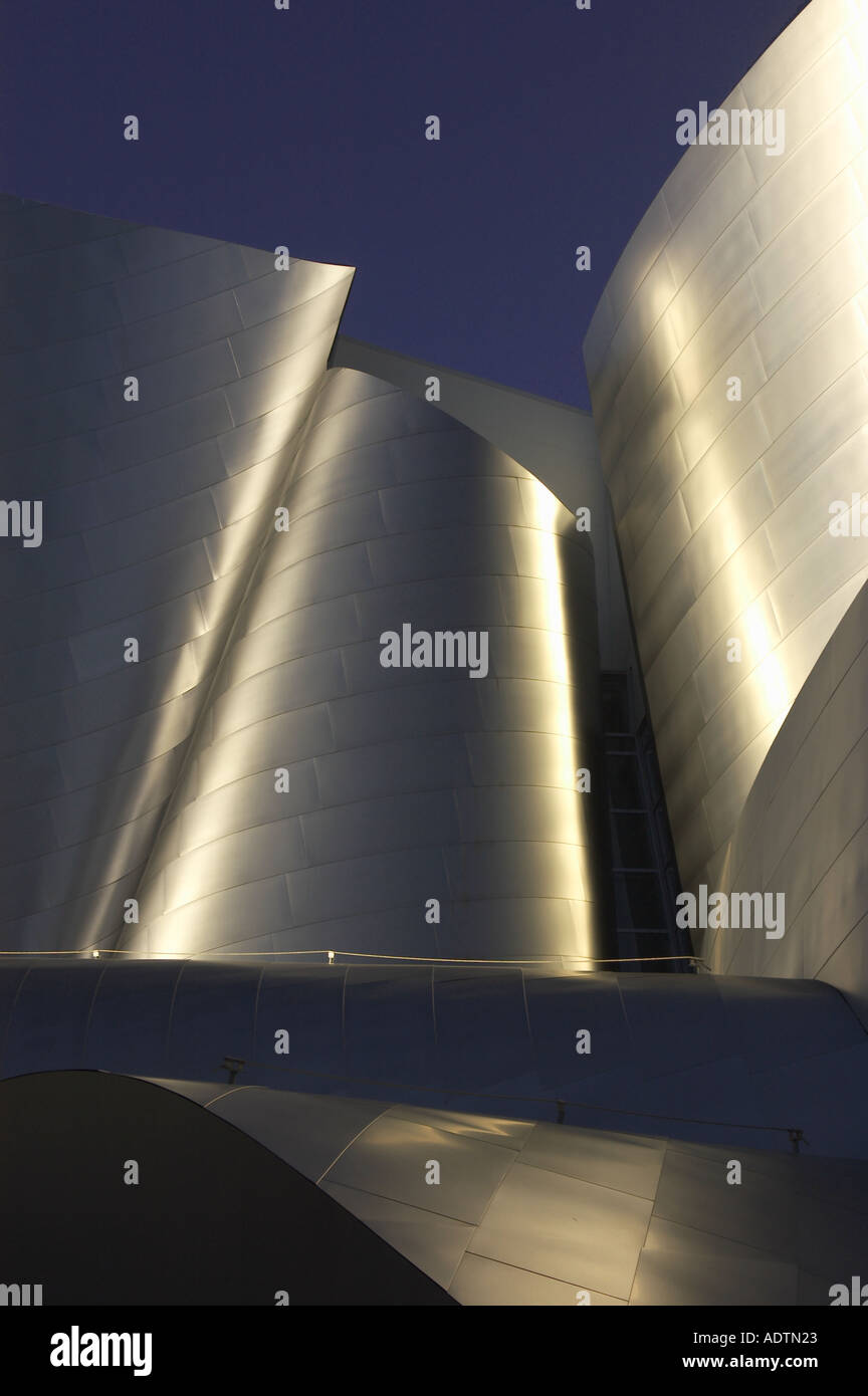 Walt Disney Concert Hall 1987 2003 by Frank Gehry Los Angeles USA  - Stock Image