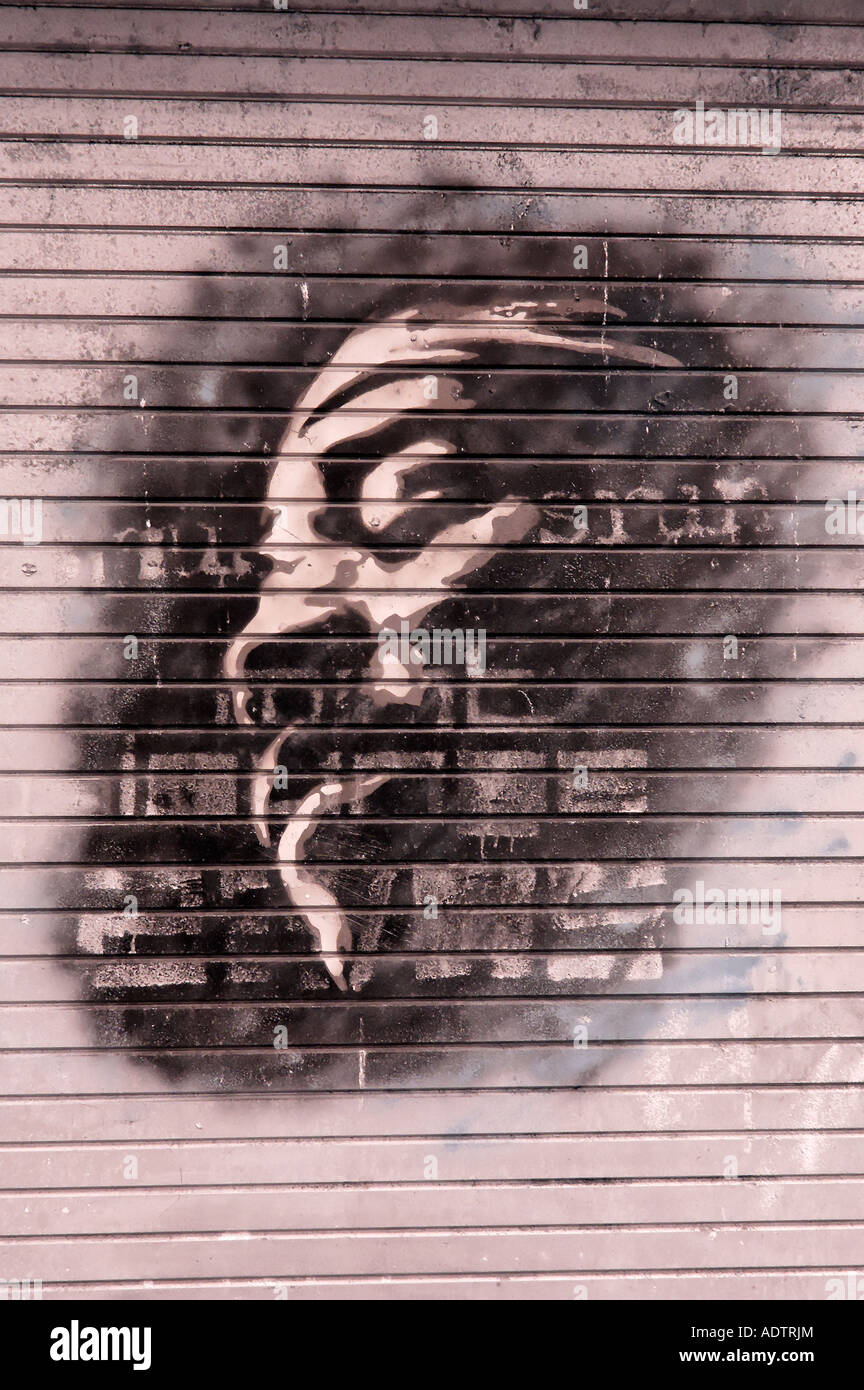 Manchester Graffiti UK #02 - Stock Image