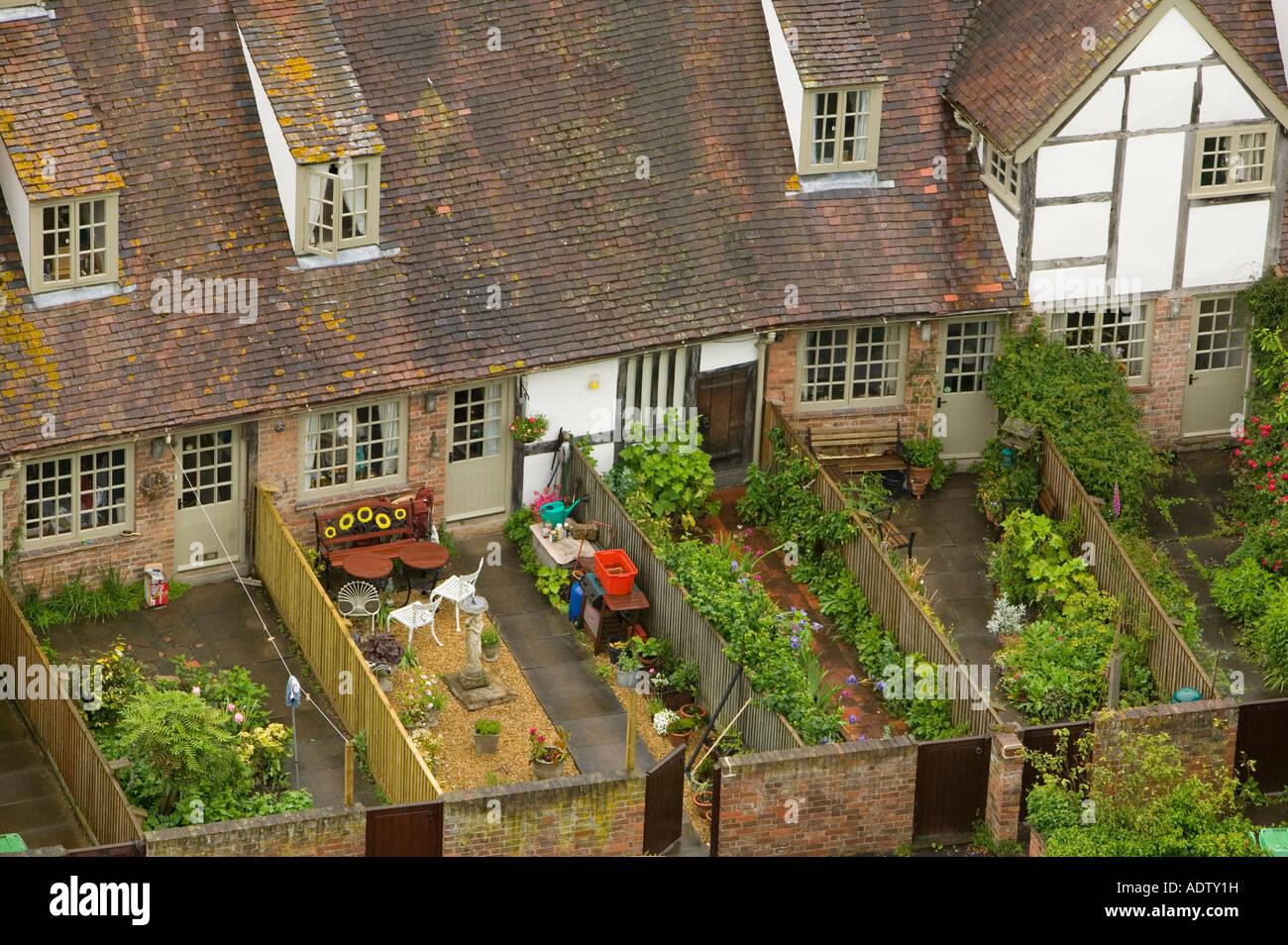 Terraced House Garden Uk Back Stock Photos & Terraced House Garden ...