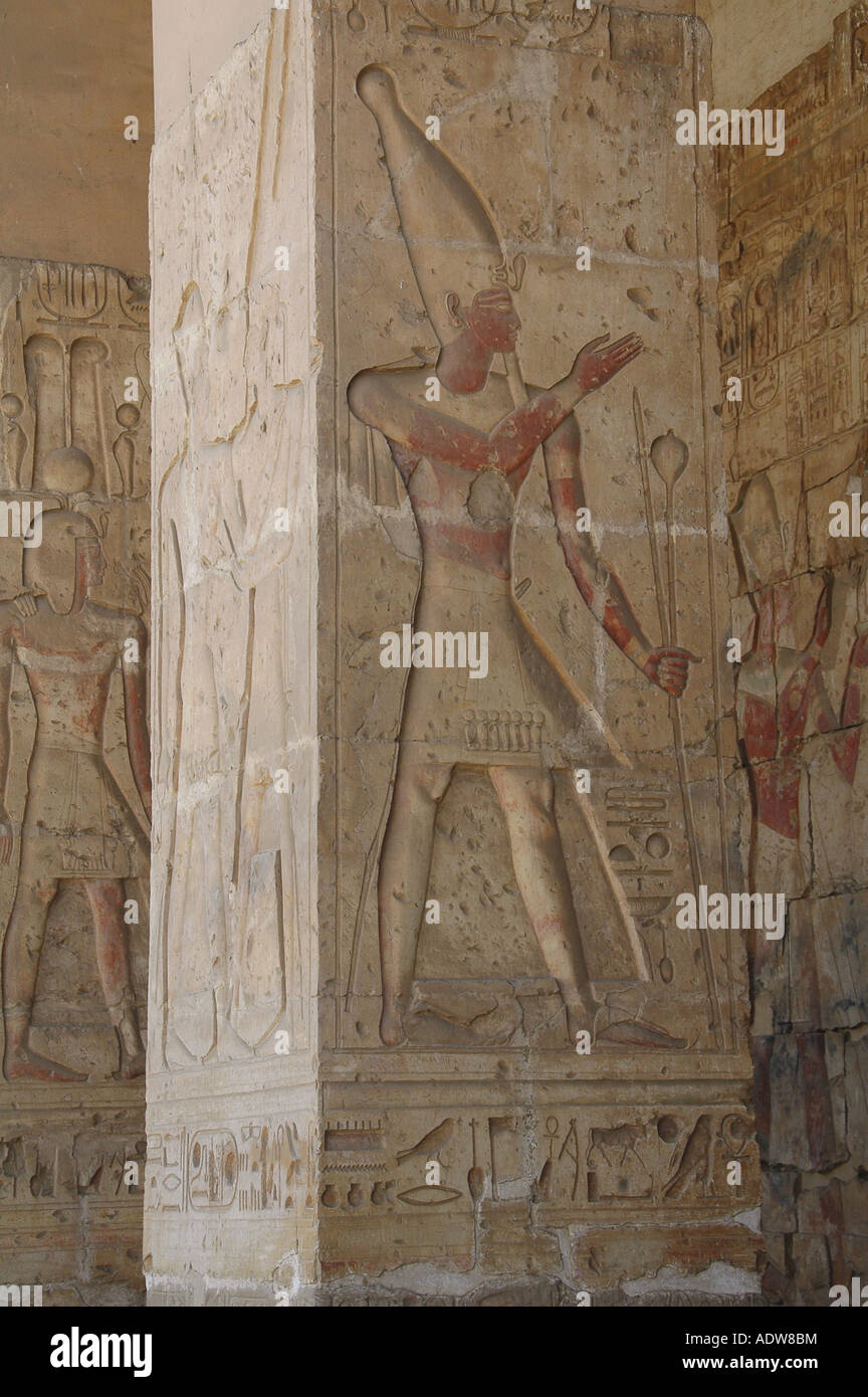 hieroglyph pictographic script writing at the temple of seti, nile