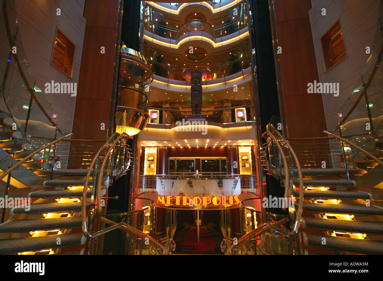 Metropolis theatre entrance on board the Royal Caribbean Navigator of the Seas cruise ship - Stock Image