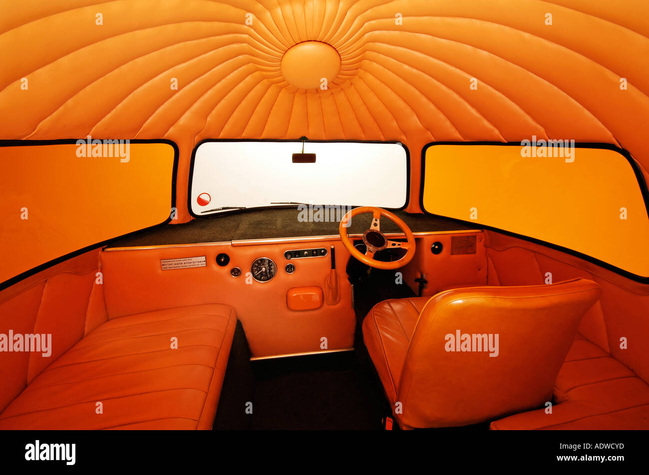 1972 Mini Outspan Orange - Stock Image