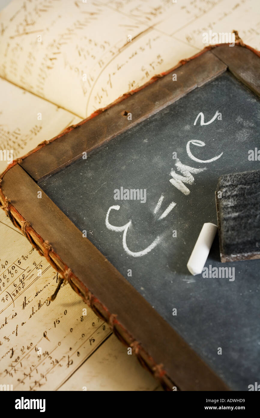 Still life of Einstein s law of relativity - Stock Image