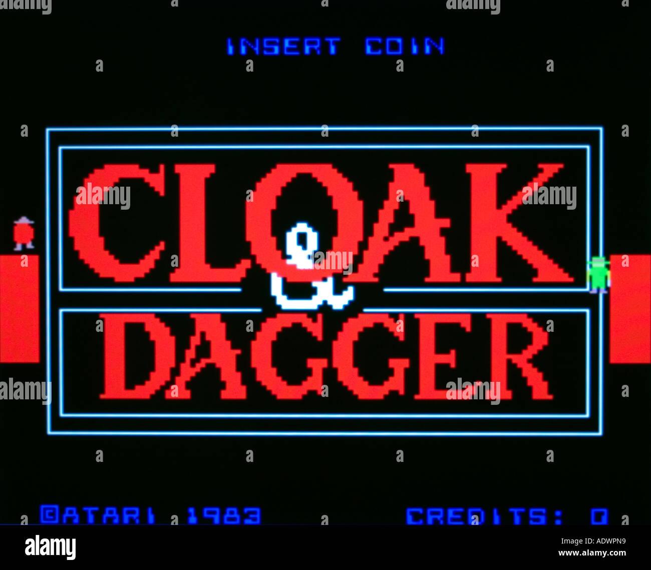 Cloak Dagger Atari 1983 vintage arcade videogame screenshot - EDITORIAL USE ONLY - Stock Image