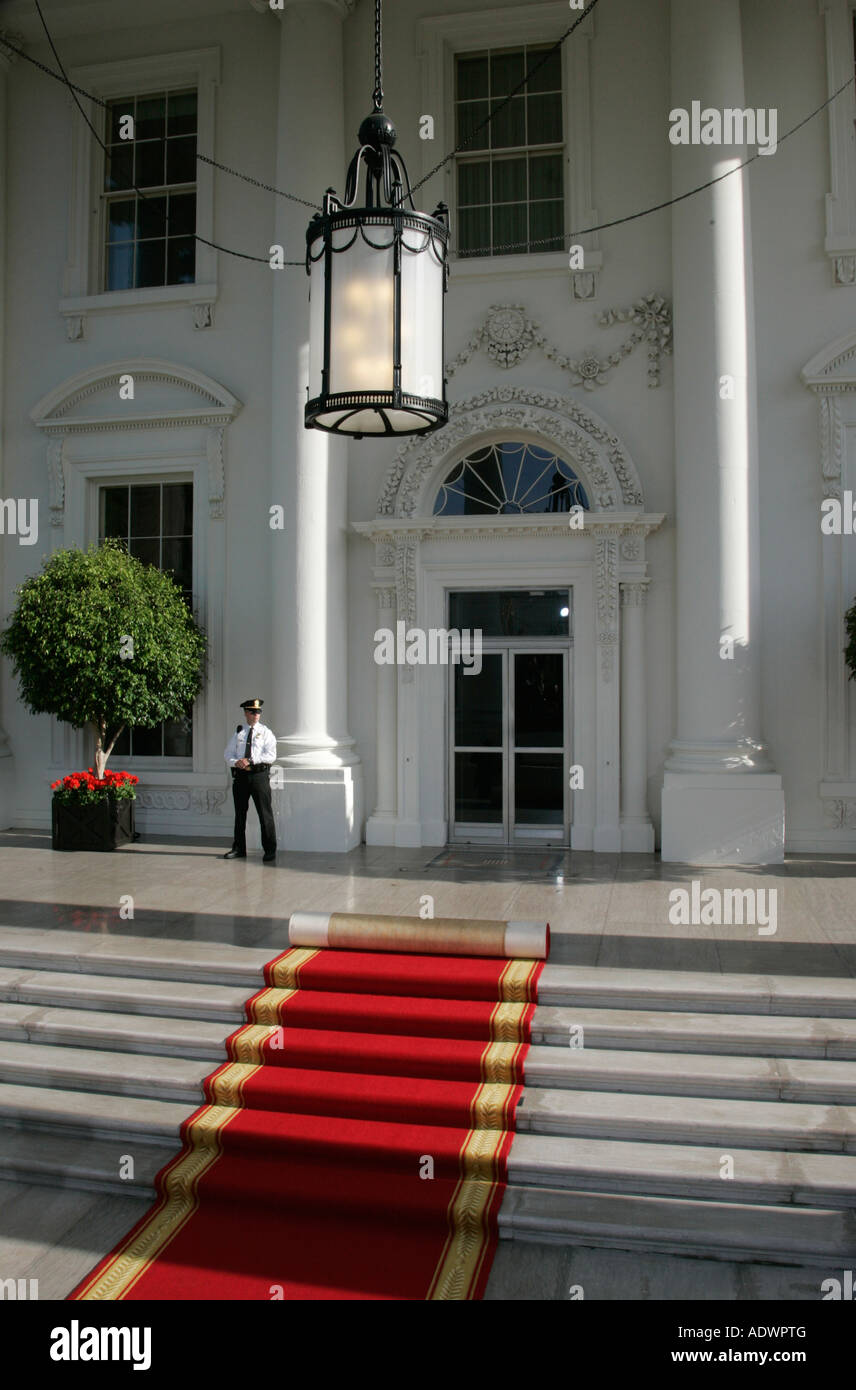 Red Carpet At The White House Washington Dc United States