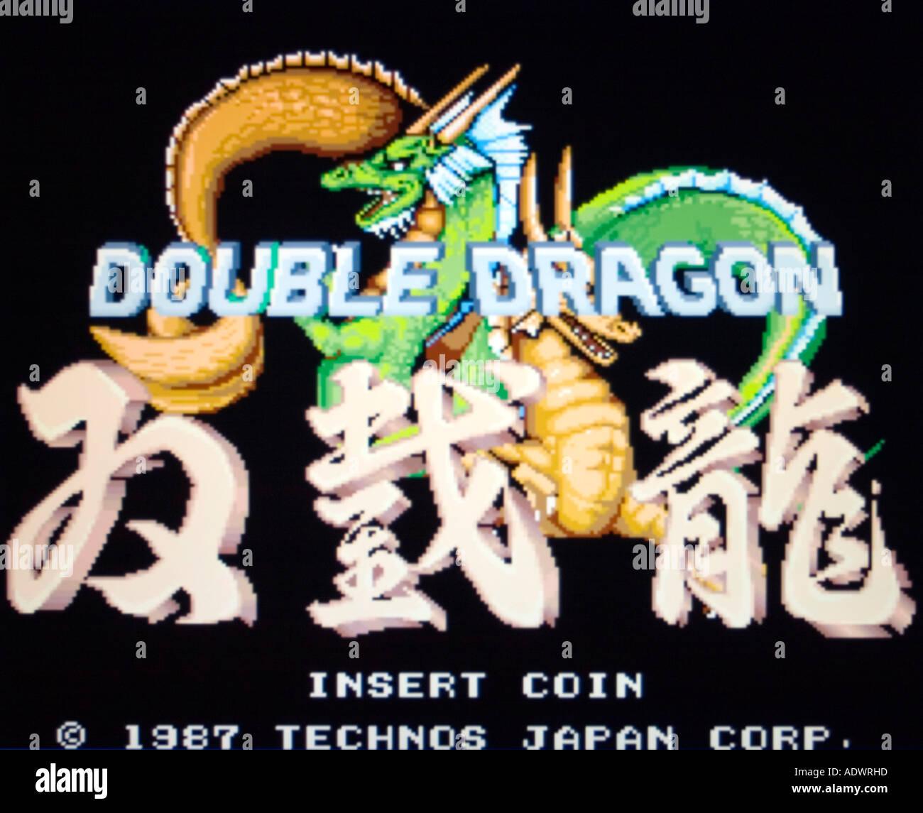 Double Dragon Techno Japan Corp 1987 Vintage Arcade Videogame