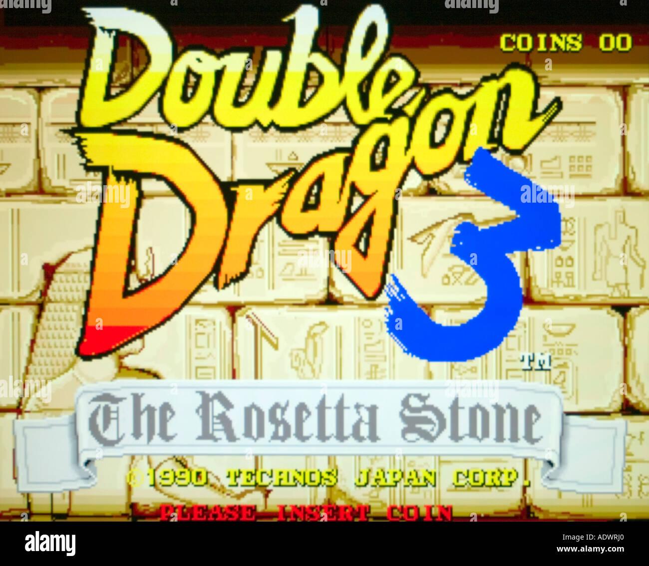 Double Dragon 3 The Rosetta Stone Technos Japan Corp 1990 Vintage