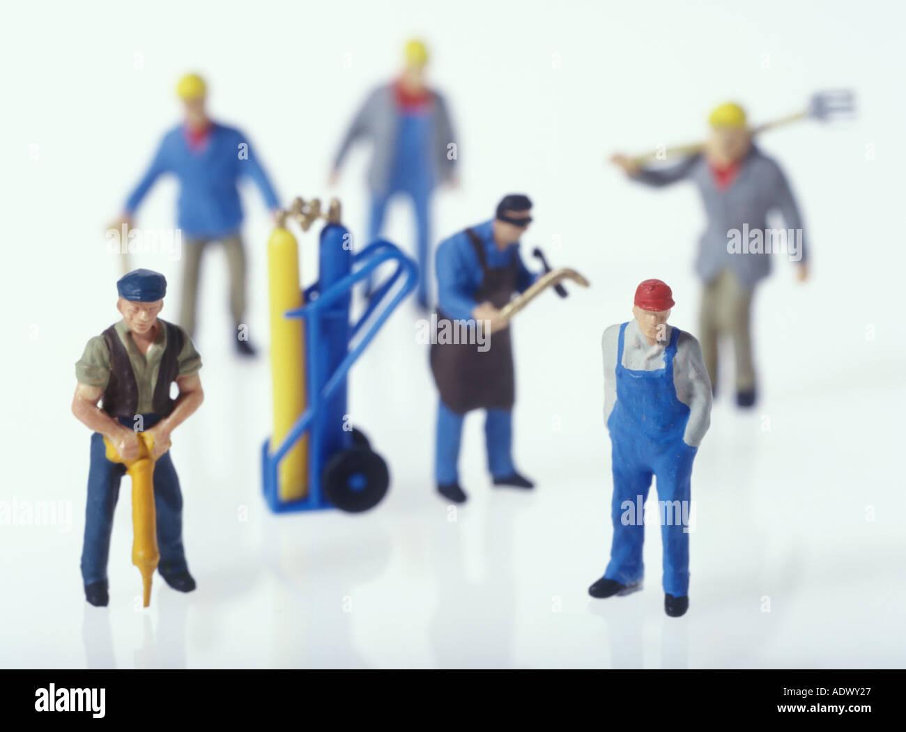 11E0167 Employment Work Plastic Toy - Stock Image
