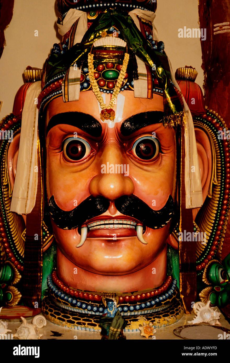 Hindu deity, Sri Mariamman Temple, Sri Mariamman, Hindu Temple, Hinduism, temple, Singapore, Southeast Asia - Stock Image