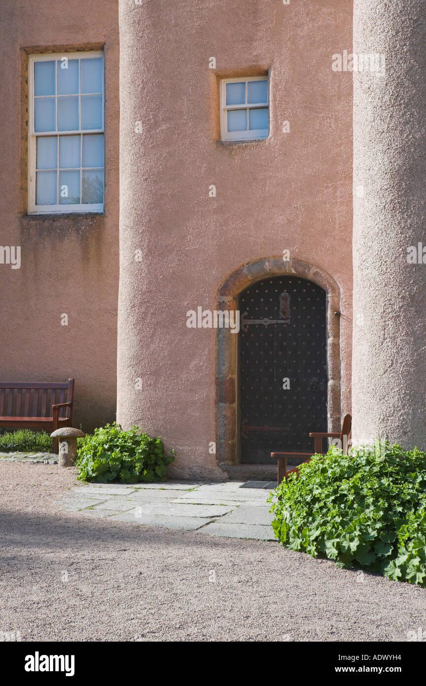 Door of Craigievar Castle, Aberdeenshire, Scotland - Stock Image