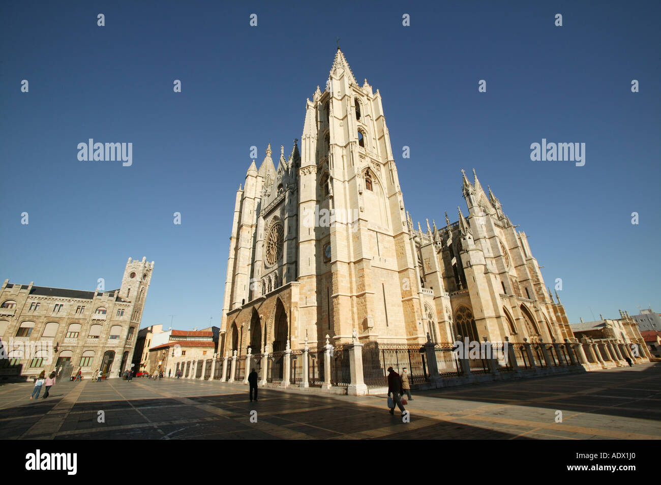 The King Ordoño II, Christian, Spain, Cathedral of León, daylight, Leon, monument, church, art, arquitecture, travel, holidays - Stock Image