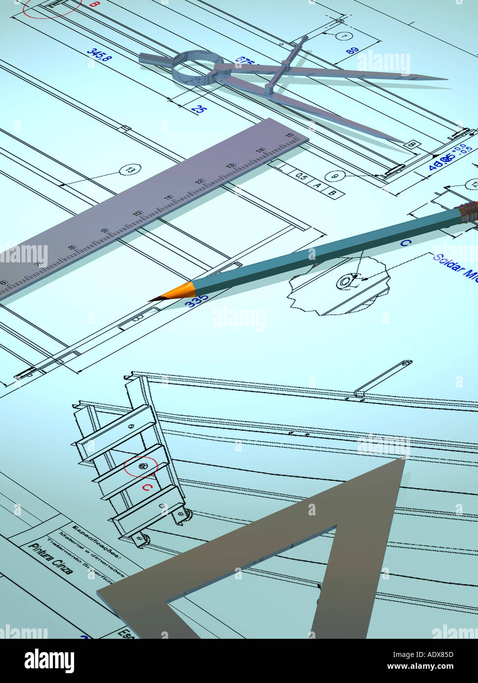 Illustrations ruler compass pencil drawing gear blueprint draft illustrations ruler compass pencil drawing gear blueprint draft design triangle architecture industry construction miscellaneous malvernweather Images