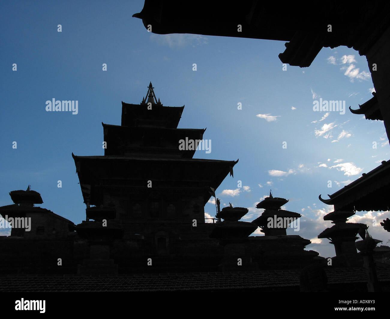Old Durbar and Basantapur square Katmandu - Stock Image