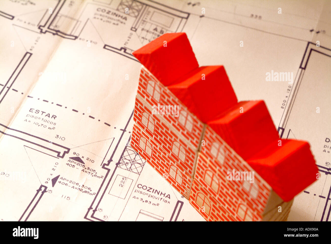 Architecture blueprint blocks toy model building red roof plan architecture blueprint blocks toy model building red roof plan scheme diagram project concept conceptual background architecture malvernweather Choice Image